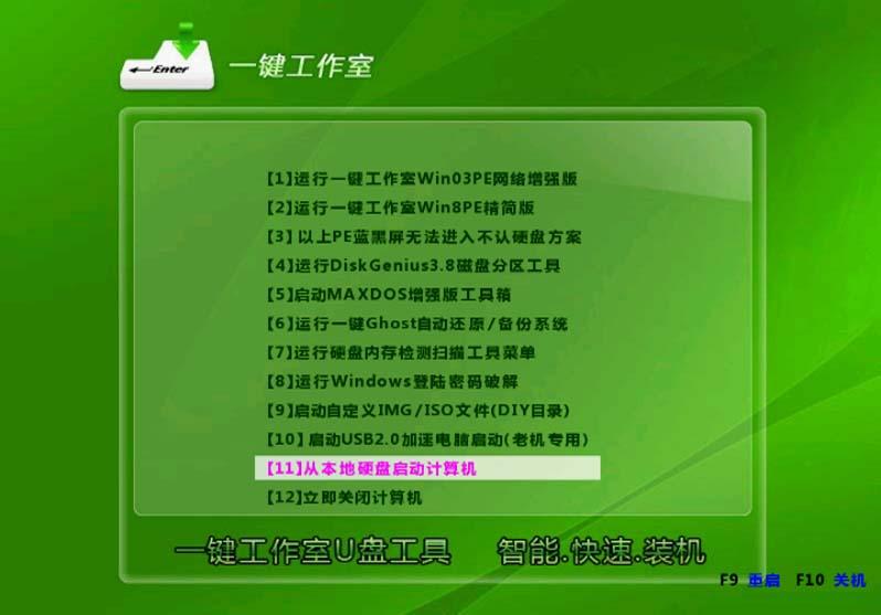 一键U盘装系统V3.7主启动菜单